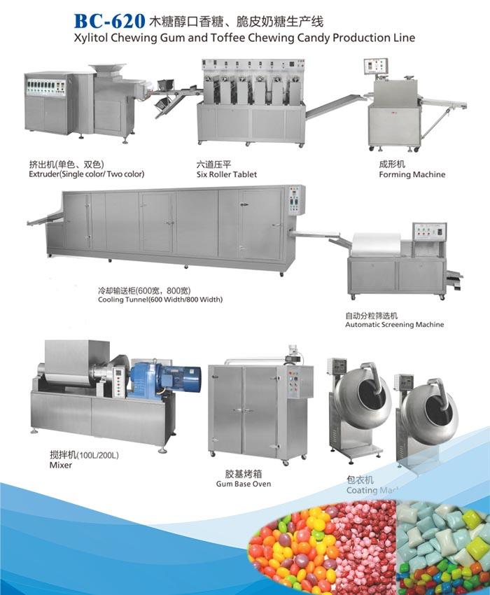 口香糖生产线|脆皮奶糖生产线(BC-620)